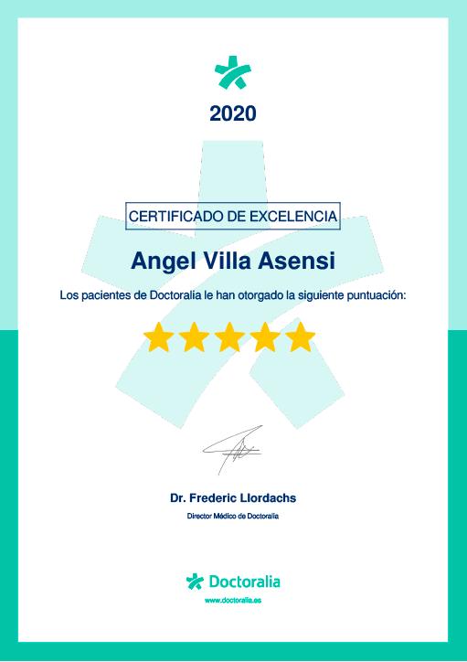 Doctoralia certificate 2020